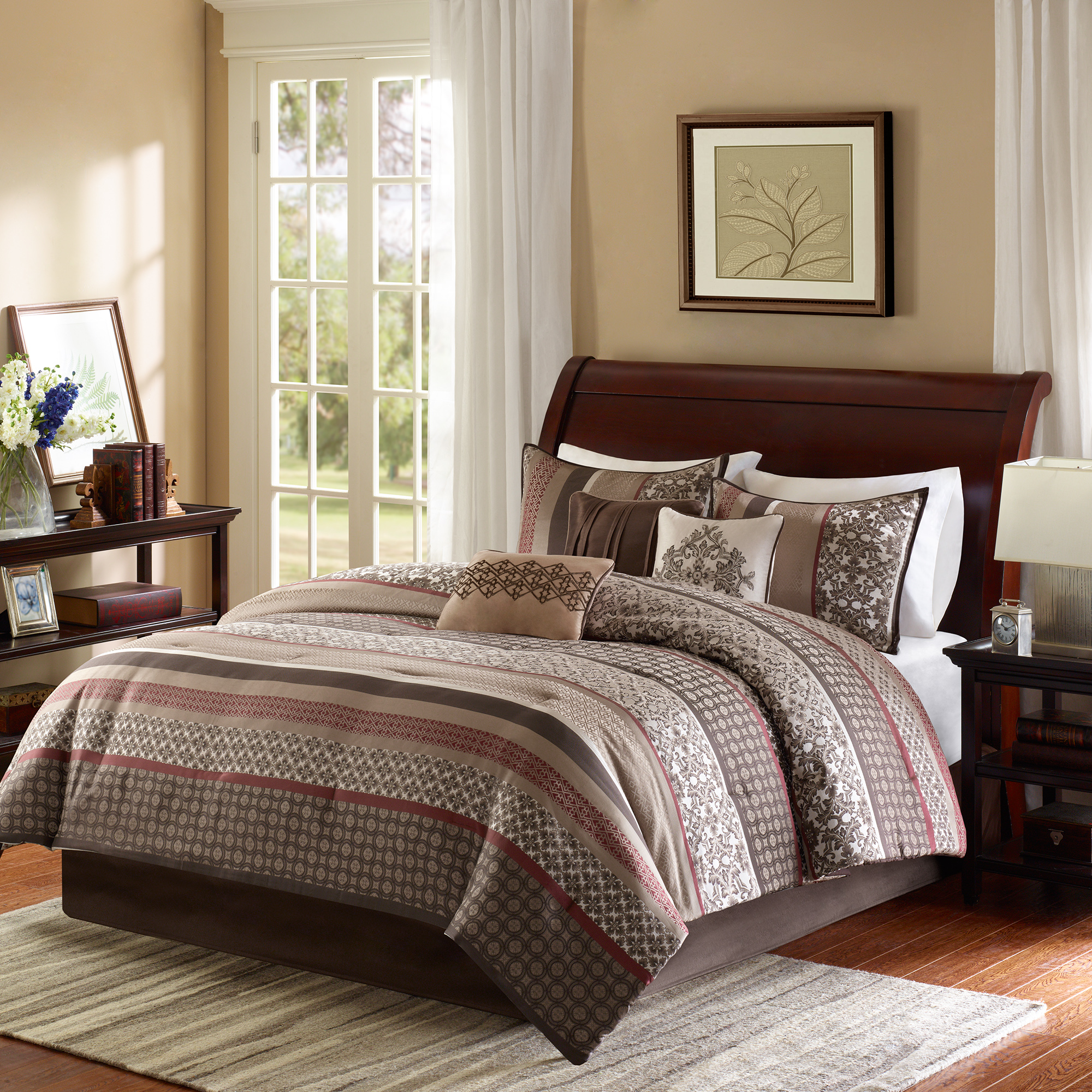 Home Essence Cambridge 7 Piece Jacquard Comforter Set