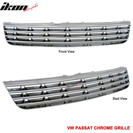 Fits 97-00 VW Passat Mesh ABS Sport Chrome Hood Grille Grill