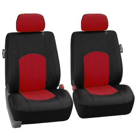 FH Group Perforated Leather Front Bucket Seat Covers For Auto Car