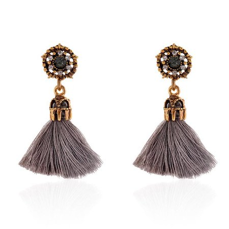 MosunxVintage Style Rhinestones Crystal Tassel Dangle Stud Earrings Fashion Jewelry GY (Multi Colored Rhinestone Clip Earrings)