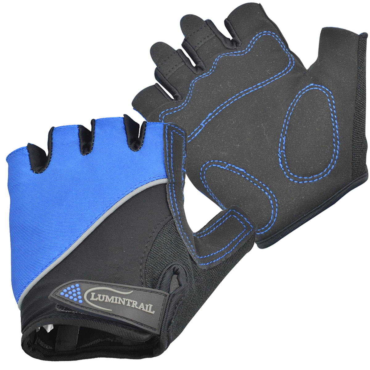 Lumintrail Shock Absorbing Half-Finger Riding Cycling Gloves Breathable Road Racing Bicycle Mens Womens