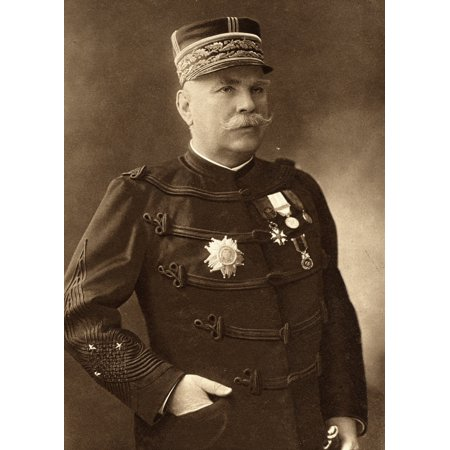 Joseph Jacques Cesaire Joffre 1852-1931 French Commander And General From A Photograph By Henri Manuel Paris From The Great World War Volume 3 Published 1916 Canvas Art - Ken Welsh  Design Pics (12 x (Henri Bendel Type)