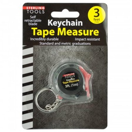 Bulk Buys MT521-72 Mini Tape Measure Key Chain - 72 Piece (Buy Keychains In Bulk)