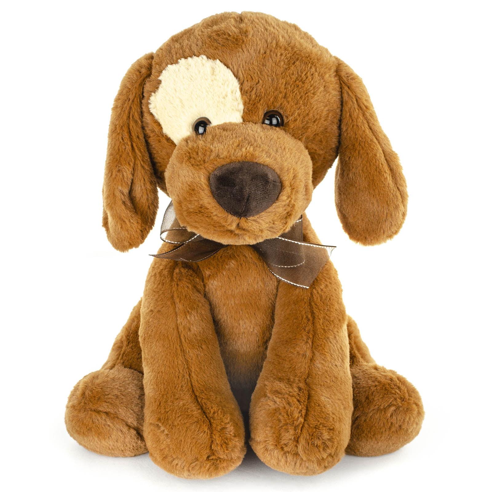 Plush Sitting Eye patch Dog Stuffed Animal Toy, Adorable