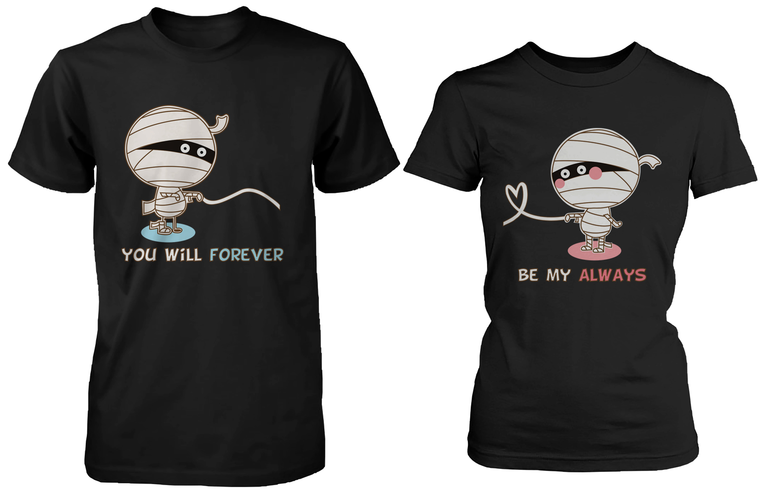 44e84f6330 365 Printing - Halloween Couple Shirts - Mummy Shirts for Horror Night -  Walmart.com