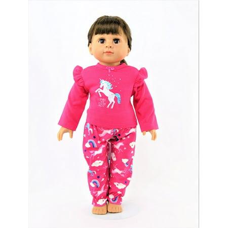 Hot Pink Unicorn Pajamas| Fits 18