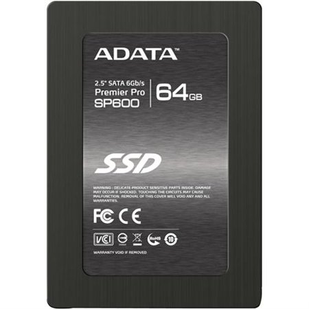 ADATA Premier SP600 64GB 2.5 Inch SATA III Best Upgrade Solution Solid State Drive (ASP600S3-64GM-C)