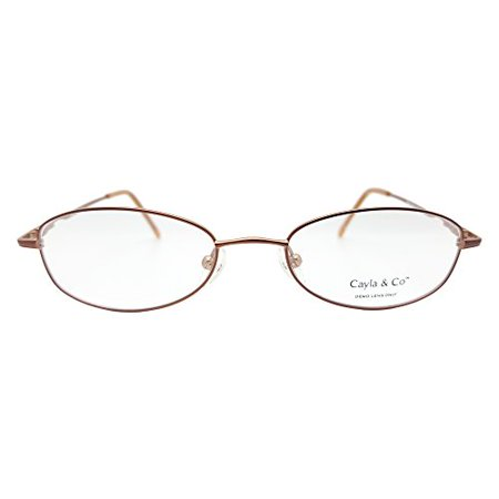 12b891e5b919 Cayla And Co Women's Sasha Eyeglasses Prescription Frames (Brown,  48-18-135) - Walmart.com