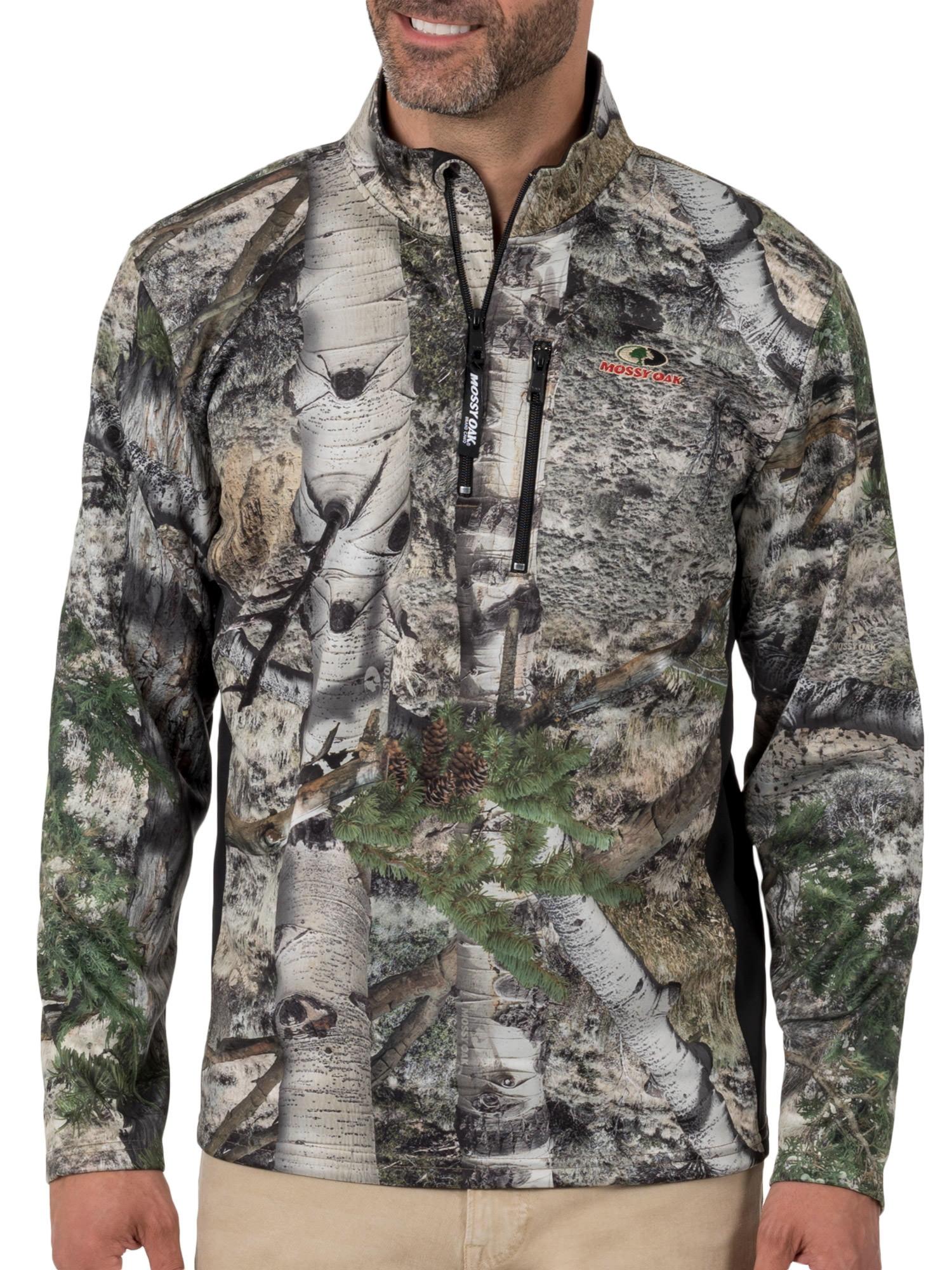 Men Mossy Oak CAMO *XL* Long Sleeve Quarter Zip Mock Neck Chest Pocket Pull Over