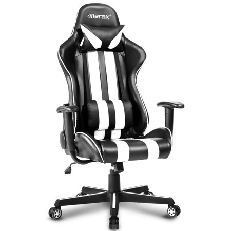 Swell Merax High Back Ergonomic Pu Leather Office Chair Racing Car Chair Gaming Chair Andrewgaddart Wooden Chair Designs For Living Room Andrewgaddartcom