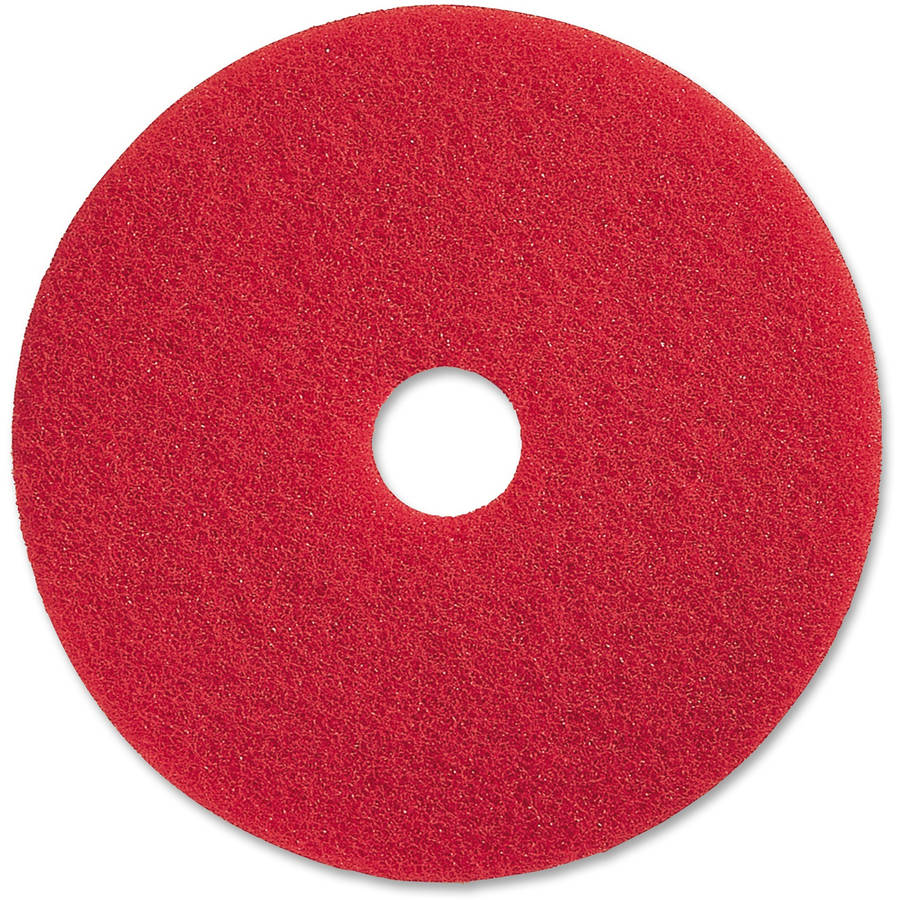"Genuine Joe 17"" Red Buffing Floor Pad, 5 Pads"