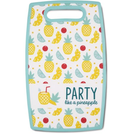 Pavilion - Party Like A Pineapple - Cherry And Wedge Patterned - 9 x 14.5 Inch Poly Cutting Board