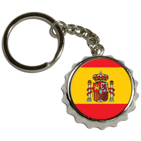 spain spanish flag nickel plated metal popcap bottle. Black Bedroom Furniture Sets. Home Design Ideas