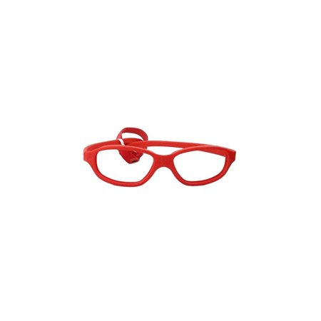 Miraflex: Nicki48 Unbreakable Kids Eyeglass Frames | 48/17 - Red | Age: 10Yr - (Eyeglasses Frames For Kids)