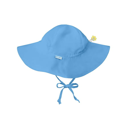 Brim Sun Hat for Baby Boys Sun Protection Wide Brimmed Hat- Solid Light Blue-Infant 9-18 Months Baby Boy Hat Is Adjustable To Fit Outdoor Hat With Chin Strap; Swim Pool Beach Floppy Fisherman
