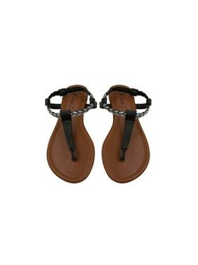 76f4b42e08442 Product Image Sara Z Womens T Strap Size Thong Sandal Glitter Braid Ankle  Strap Size 5 6