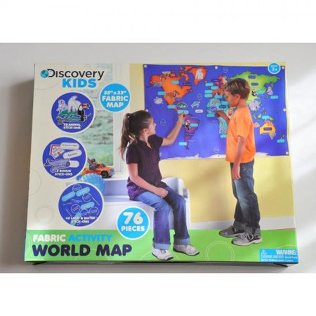 Discovery kids fabric activity world map 76 piece learning activity discovery kids fabric activity world map 76 piece learning activity 55 by 33 gumiabroncs Images