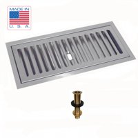 "Draft Warehouse Flush Mount Drip Tray 12"" X 5"" X 3 4"" with Drain Counter or Surface Mount"
