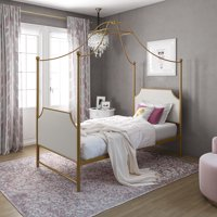 Little Seeds Monarch Hill Clementine Canopy Bed, Twin, Multiple Colors