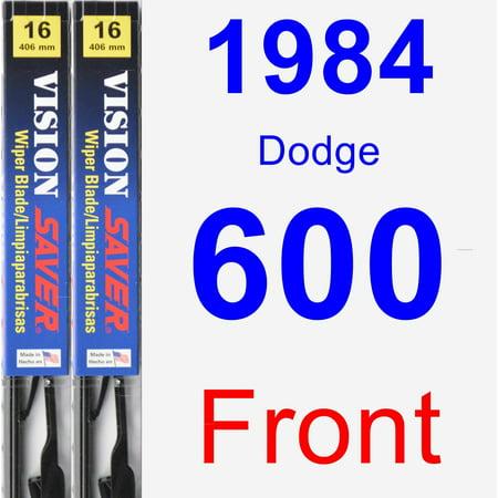1984 Dodge 600 Wiper Blade Set/Kit (Front) (2 Blades) - Vision Saver 1984 Dodge 600 Engine
