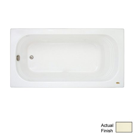 jacuzzi luxura lux6032blxxxxy 60in x 32in three wall alcove soaking bathtub in oyster
