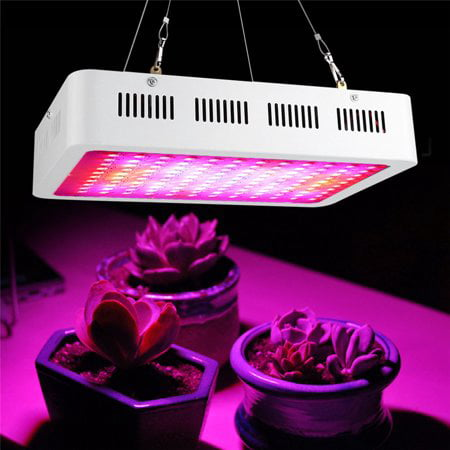 WALFRONT 1200W LED Plant Grow Lights, Full Spectrum IR UV Plant Panel for Indoor Greenhouse Hydroponic Plants Vegetable Bloom Flower Fruit ()