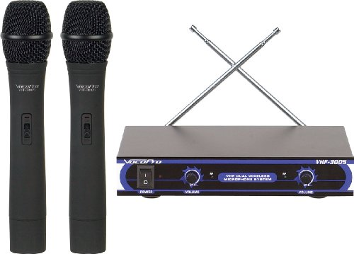 VocoPro VHF3005 Dual Handheld Wireless Microphone System by VocoPro