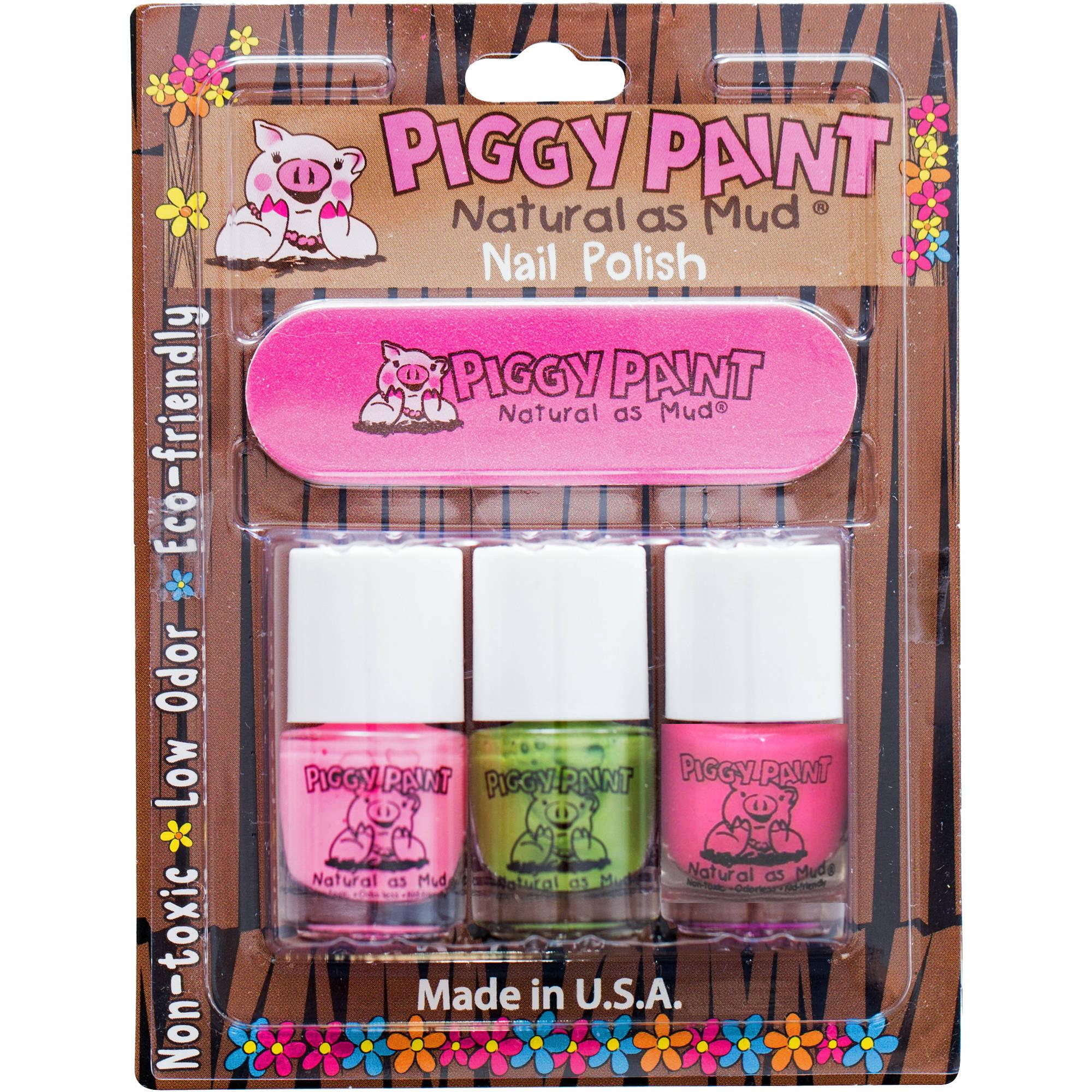 Piggy Paint Nail Polish Set, 4 pc