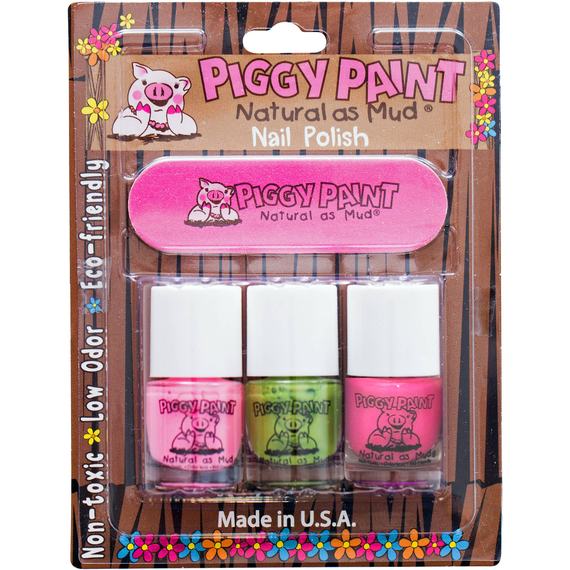 Piggy Paint Nail Polish Set, 4 pc