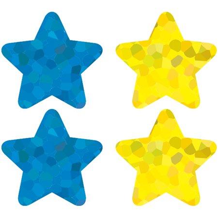 STARS MULTICOLOR FOIL STICKERS 120 PER PK - Star Stickers
