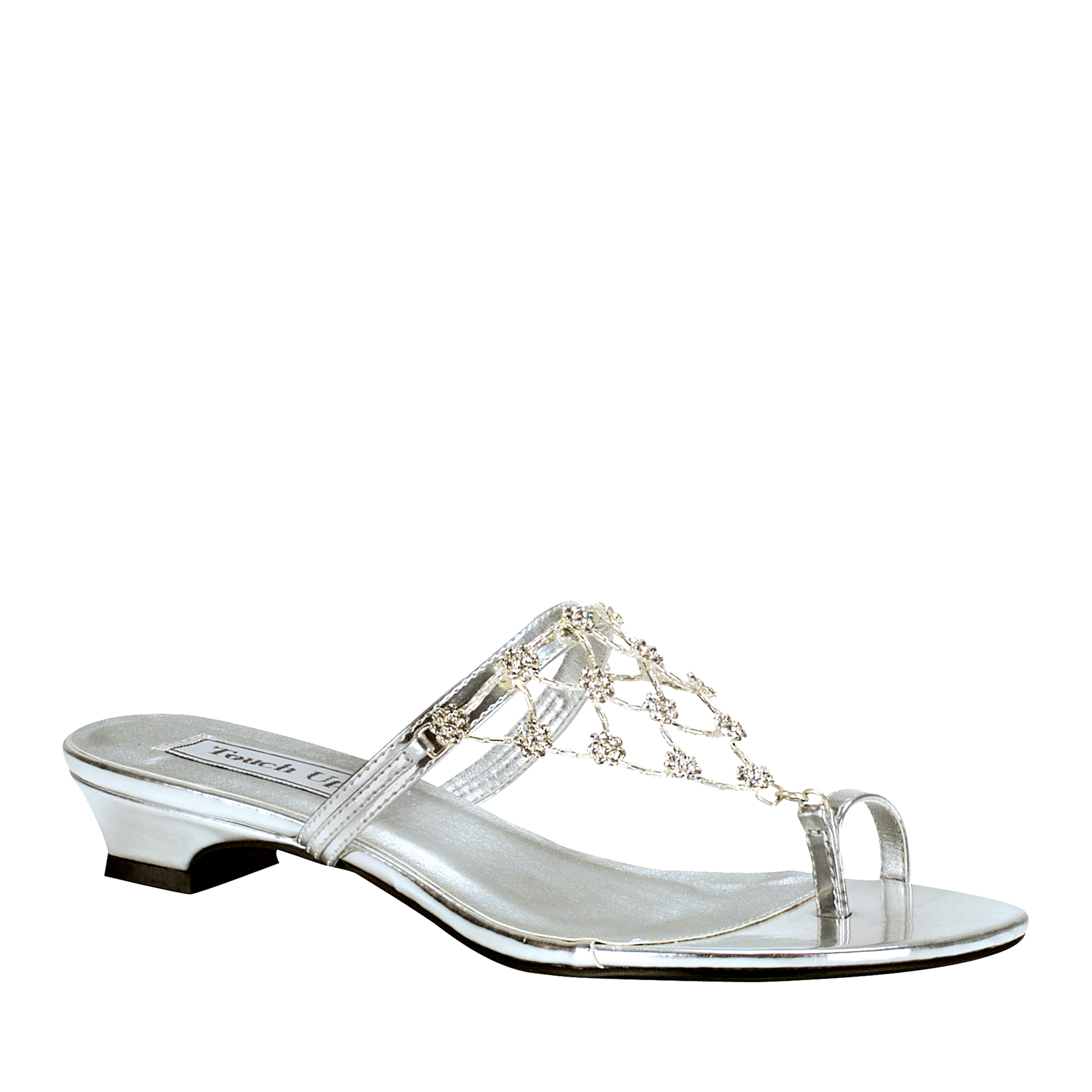 Touch Ups Womens Marcella Sandal,Silver,9 M