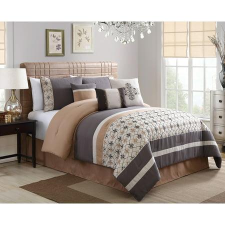 Splendor Embroidered 7 Piece Comforter Set Queen Size