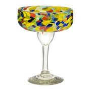 Carnaval Margarita Glass, Set of 6, 14 oz by Global Amici