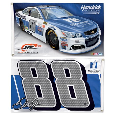 Dale Earnhardt Jr. Official NASCAR 3' x 5' Two Sided Banner Flag by Wincraft