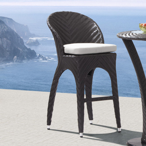 Zuo Corona Bar Chair Espresso Walmart Com