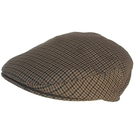 Summer Hounds Tooth Ivy Scally Driver Cap Polyester Flat Hat (Brown / Large) (Summer Drivers Caps)