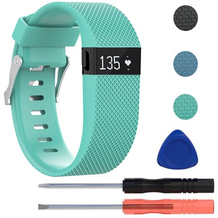 For Fitbit Charge HR Bands, EEEKit Adjustable Replacement Silicone Wristband Sports Strap Smartwatch Accessory with Took Kit for Fitbit Charge HR Fitness