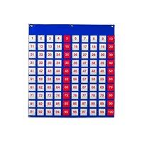 Learning Resources Hundred Pocket Chart, Organizer, 120 Cards, Grades K+
