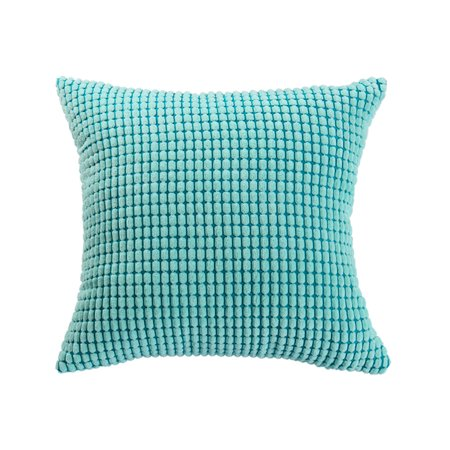 """Sofa Cushion Cover Striped Corduroy Throw Toss Pillow Case Shell 26"""" Cyan - image 1 of 7"""