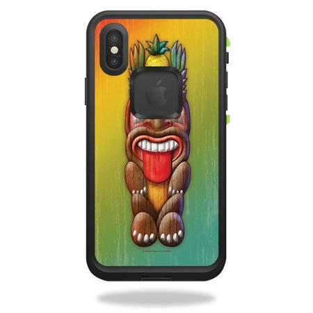 MightySkins Skin For LifeProof FRĒ iPhone X - Tiki Man | Protective, Durable, and Unique Vinyl Decal wrap cover | Easy To Apply, Remove, and Change Styles | Made in - Tiki Man