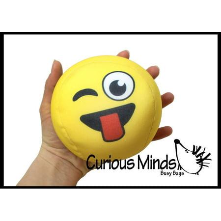 Jumbo Soft and Squishy Emoji Pillow Ball - Sensory Fidget Stress Toy Emoticon Face Emoji