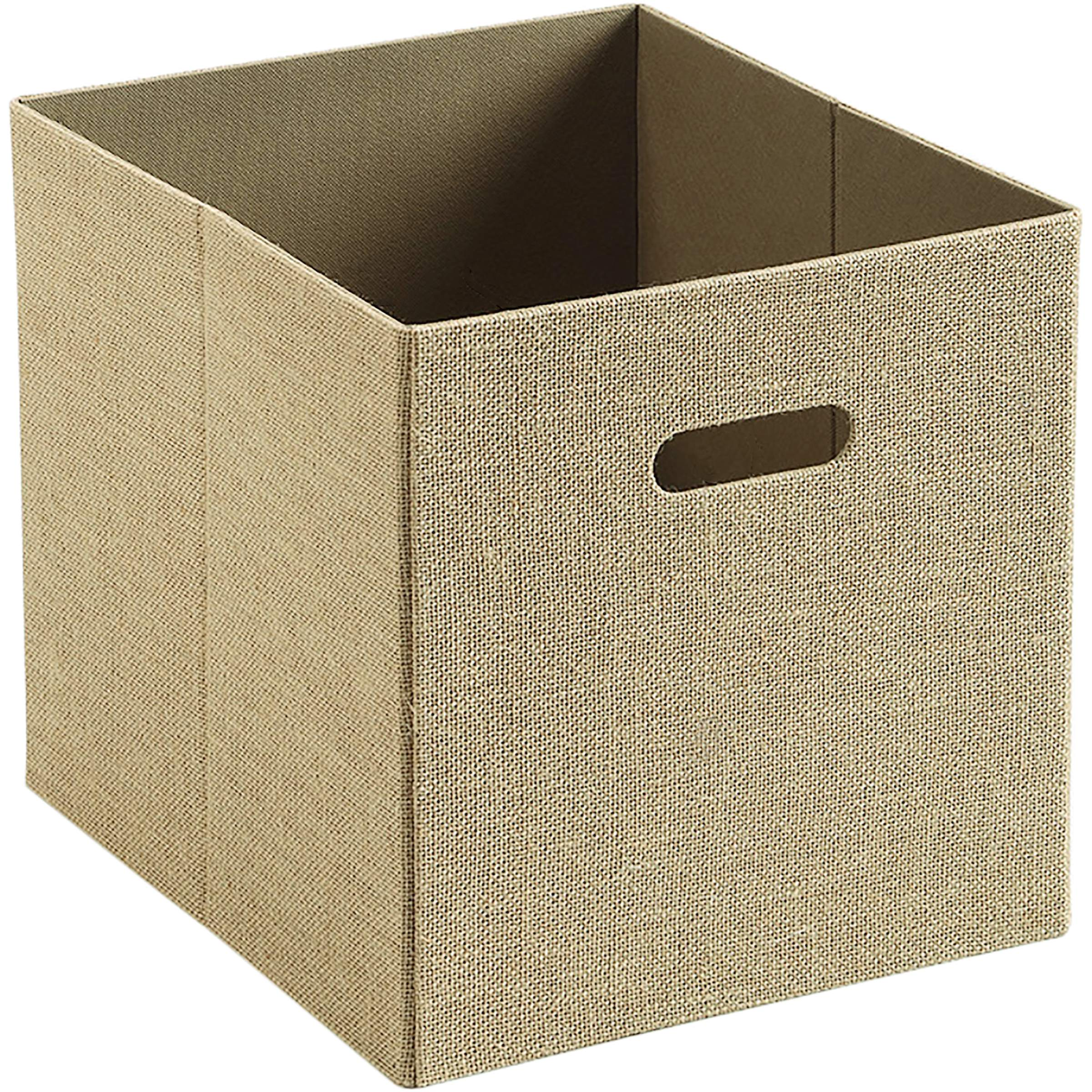 Better Homes and Gardens® Burlap Storage Bin, Rustic Tan Exterior