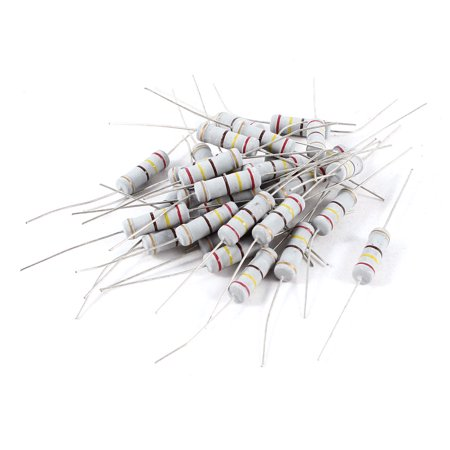 30pcs 2W 240 Ohm 5% Through Hole Color Ring Carbon Film Resistors