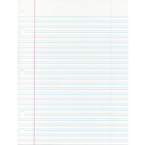 School Smart Cursive Ruled Short Way Notebook Paper With Margin