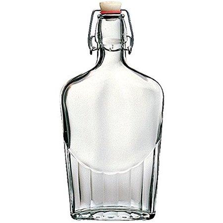 Bormioli Rocco Fiaschetta 17 Ounce Glass Pocket Flask, Set of (Pattern Hip Flask)