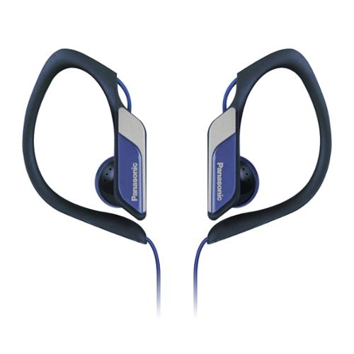 Panasonic Water-resistant Sport Clip Earbud Headphones Rp-hs34m-a - Stereo - Blue - Mini-phone - Wired - 23 Ohm - 10 Hz - 22 Khz - Nickel Plated - Earbud, Over-the-ear - Binaural - In-ear (rp-hs34m-a)