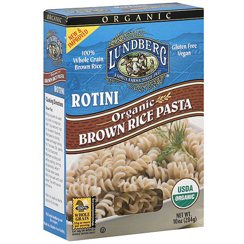 Lundberg Family Farms Brown Rice Rotini, 10 oz (Pack of 12)