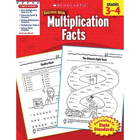 Scholastic Success with Multiplication Facts, Grades - Halloween Multiplication Fourth Grade
