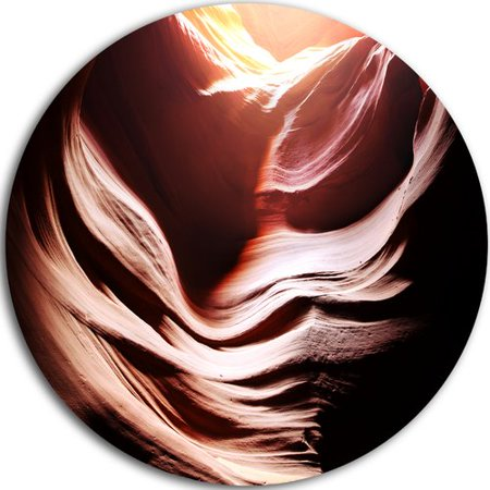 Design Art 'Antelope Canyon in Brown Shade' Graphic Art Print on Metal ()
