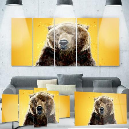 DESIGN ART Designart 'Brown Bear' Animal Metal Wall Art